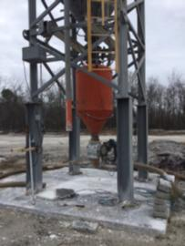 TEMPORARY ON HOLD-Stationary 32-25 Ton Dust/Lime Silo (2 of 3)