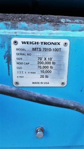 10' x 70' Weigh-Tronic Scales (2 of 3)